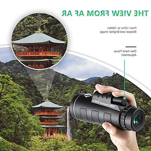 40x60 - Powered BAK4 with Smartphone and Mount Perfect for Adults, Birdwatching, Concerts
