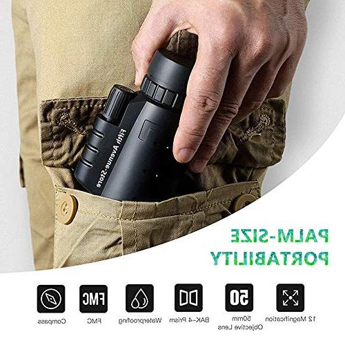 Monocular Telescope CE 40x60 - High Powered BAK4 Phone with Tripod Mount Adapter, Perfect for Adults, Birdwatching, Concerts