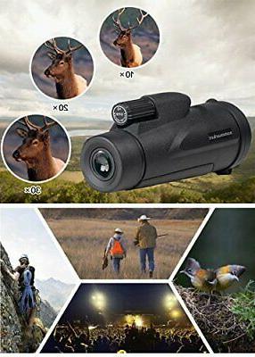 Monocular 40X60 Power HD Smartphone Holder & Trip