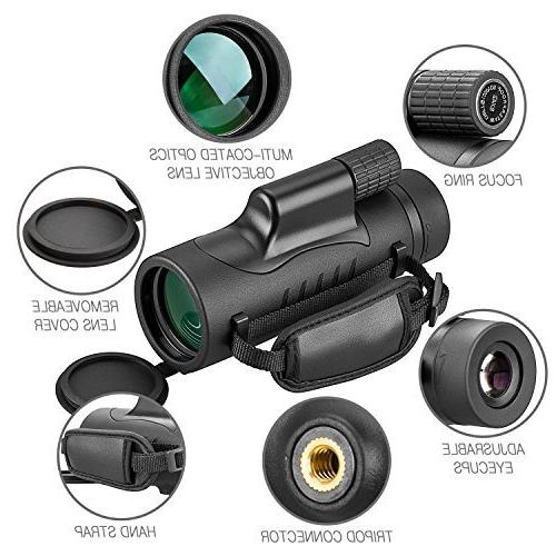 Monocular Telescope 8x42 Portable with Adults Hunting Camping Hiking Wildlife