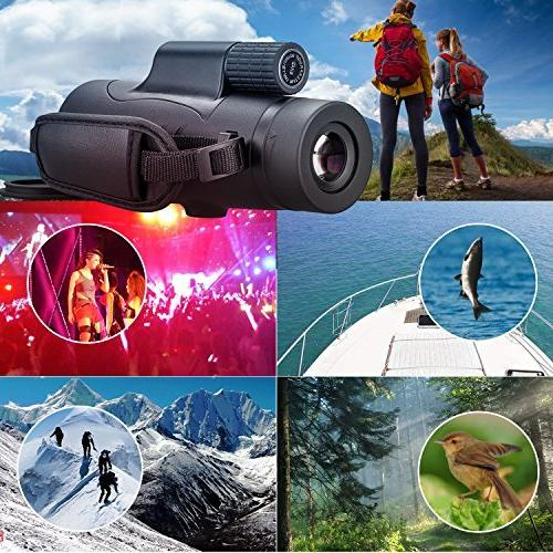 Monocular 8x42 Scope Portable Waterproof with Adults Kids Hunting Wildlife