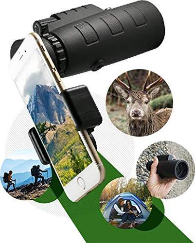 Starscope 10x50 Telescope Waterproof Fogproof Prism with Built-in Compass for All Outdoor Activities Smartphone Mount and