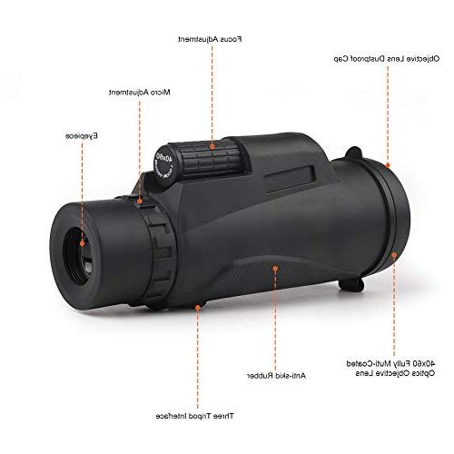 DEKINMAX Telescope Waterproof Scope BAK4 Prism and Fully Multi Lens for Watching, Camping, Concerts