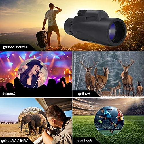 DEKINMAX Waterproof Monocular with BAK4 Prism and Multi Optical Glass Lens for Watching, Concerts