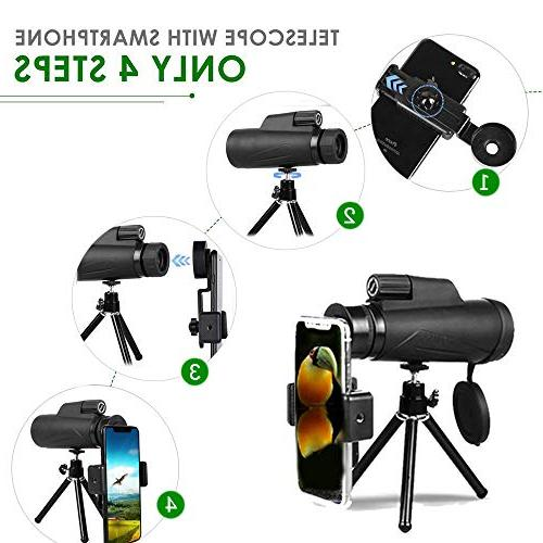 Monocular for Adult, High 12x50 Compact High Prism FMC Night Monoscope Bird Watching,Hunting,Camping
