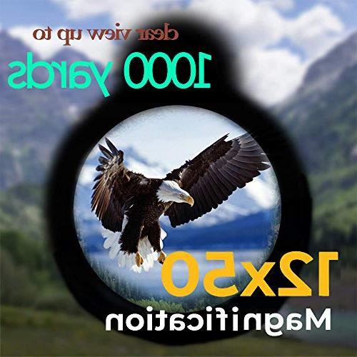 Monocular Adult, High 12x50 Compact High BAK4 Prism FMC Low Night Monoscope Bird Watching,Hunting,Camping