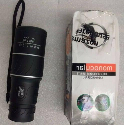 new waterproof 16x52 high definition monocular telescope