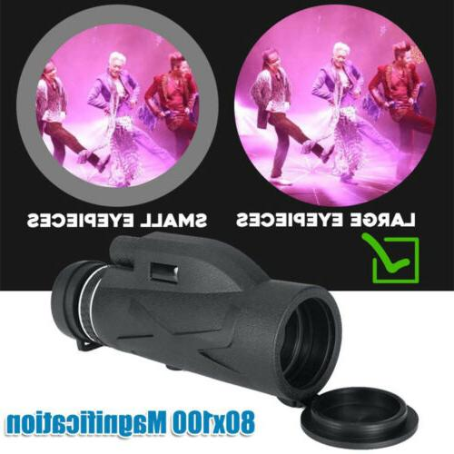 Monocular Zoom Prism HD with Phone Clip