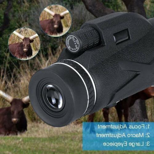 BAK4 80X100 Prism HD Telescope+Phone