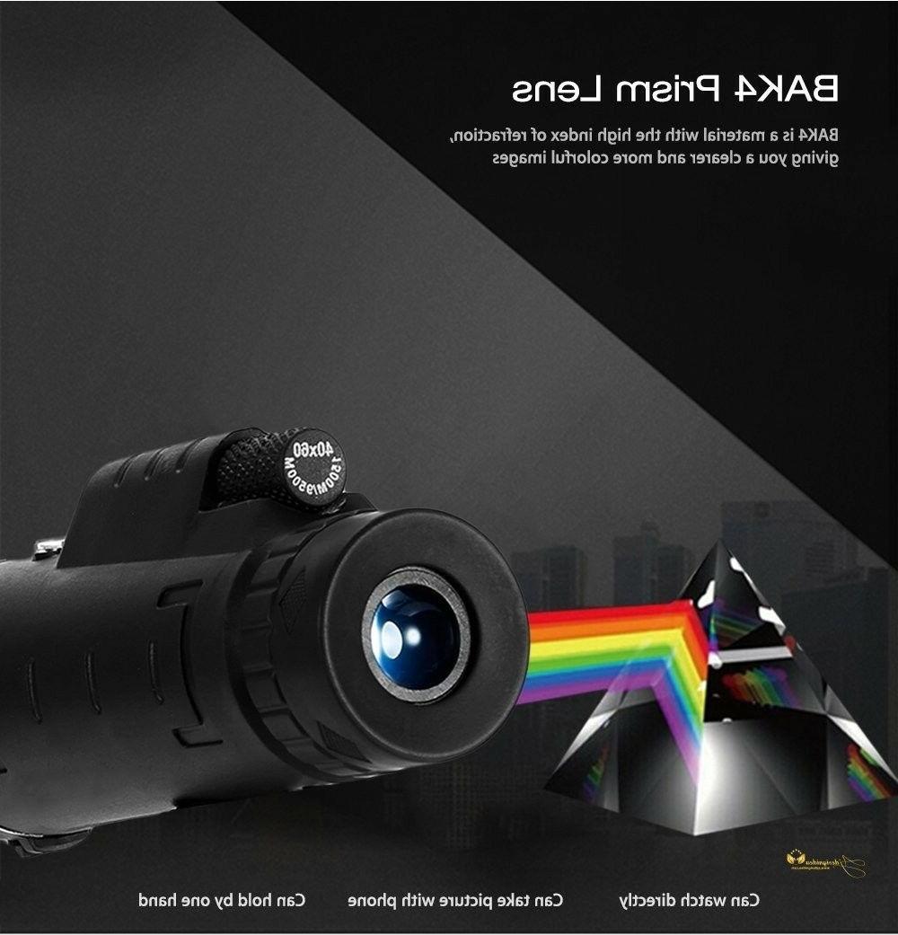 NEW 10X42 Telescope Tripod Handheld Monocular Night Prism