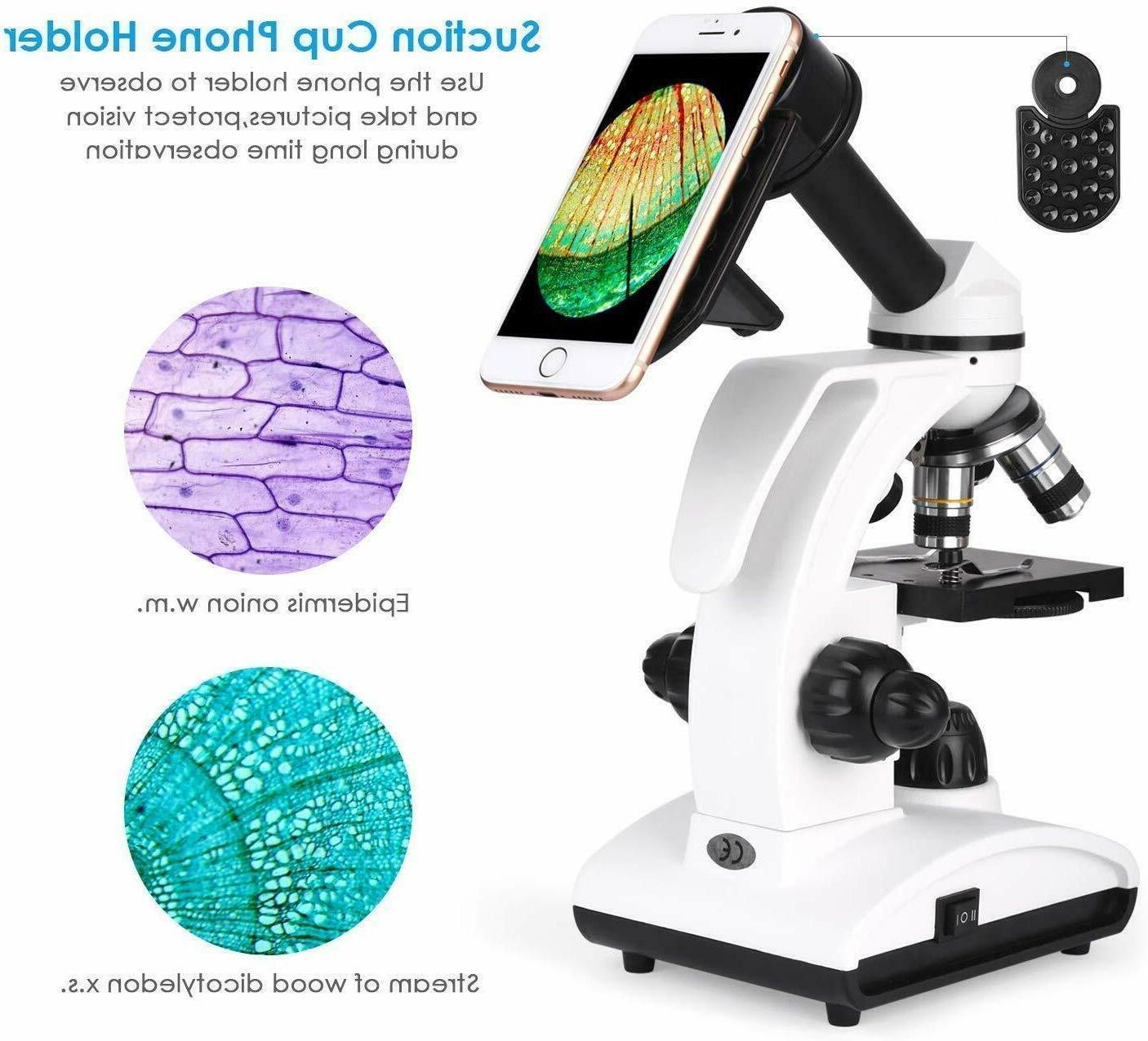 New TELMU Microscope Dual LED Compound Science