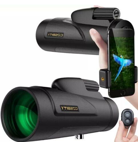 new monocular telescope 12x50 dual focus waterproof
