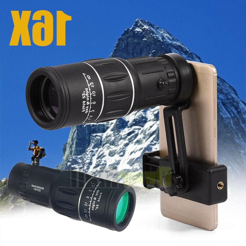 NEW WATERPROOF 16X52 HIGH DEFINITION MONOCULAR TELESCOPE-BAK