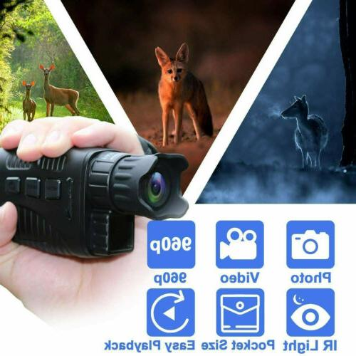 Digital Infrared Night Vision Monoculars Circular Video Reco