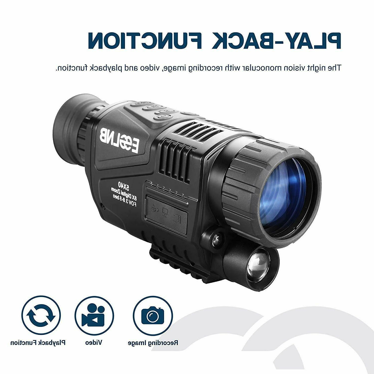 ESSLNB Night Vision Monocular 5X40 Night Vision Infrared IR Digital...