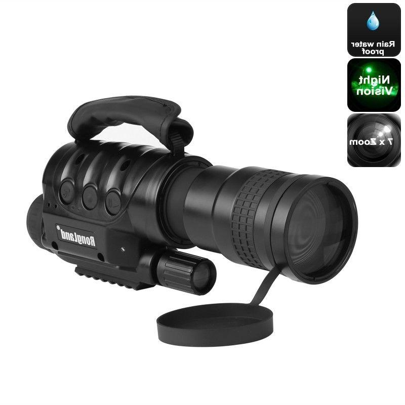 night vision monocular 7x zoom weatherproof built