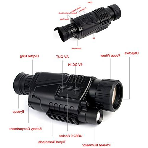 SVBONY Night 5x40 Digital Monocular with Photo and Video Playback Function Security