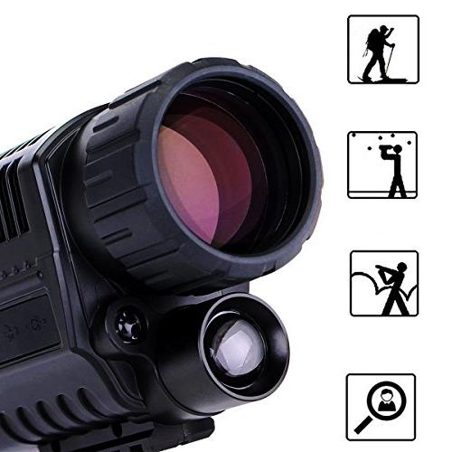 SVBONY Night Monocular 5x40 Monocular Photo Playback Hunting Security