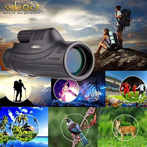 Gosky Pioneer Smartphone Mount -for Birding Wildlife Secenery Concerts FMC Lens Bright Images- Beauty The