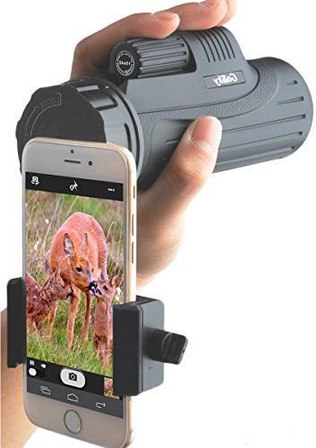 Gosky Monocular Smartphone Mount Birding Wildlife Concerts Games-BAK4 Bright Crisp Record Beauty in