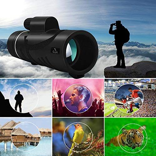 Allo HD Monocular Telescope, Night Monocular Adults Phone and Watching, Camping, Outdoor