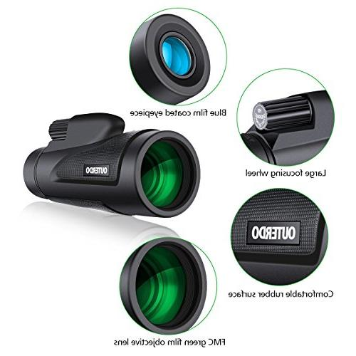High OUTERDO New Dual Focus Waterproof Adapter and Durable for Watching, Hunting, Camping,