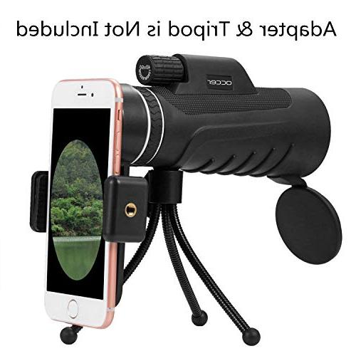 Occer 10X42 Monocular Telescope HD Focus Monocular with BAK4 Zoom Low Vision Watching