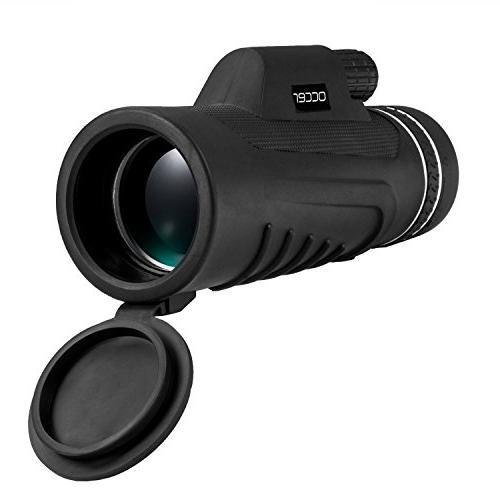 Occer 10X42 Monocular Dual Focus Waterproof Monocular Zoom Lens, Night Vision Hunting Bird Watching Camping Sporting