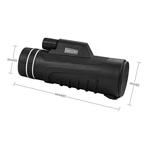 Occer Power Monocular Focus Scope, Monocular Zoom Lens, Low Night Vision Watching Camping Outdoor