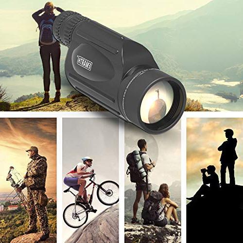 Emarth High Power 10-30X50 Zoom Monocular Prism Men Watching Wildlife Traveling