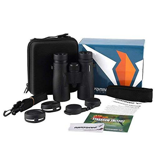 Wingspan Optics Skyview HD - 8X42 for Adults Waterproof, Wide Field of Better and Brighter Watching Ultra