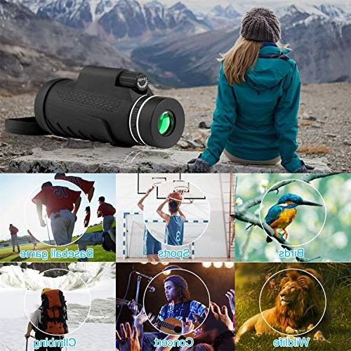 telescopes High Power Monocular Telescope, Equipped Mobile for Games and Concerts
