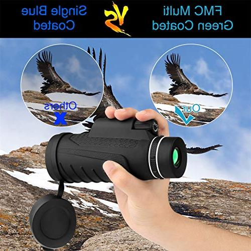 telescopes for Adults, 12X50 Equipped with a Stable Mobile Stand Bird Watching, Games
