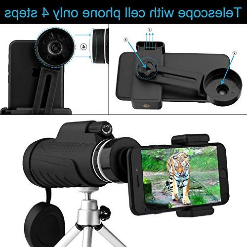 telescopes for High Monocular Telescope, Equipped Mobile Bird Watching, Camping, Games Concerts