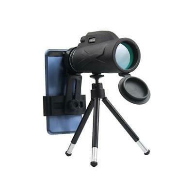US Monocular 80X100 Zoom Prism Hiking Phone Clip+Tripod