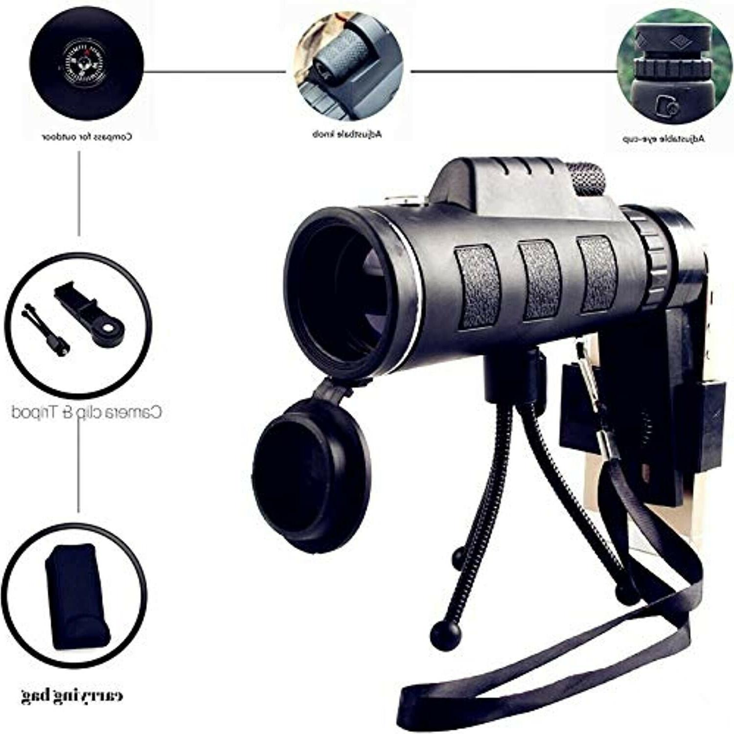 Waterproof Monoculars Tripod Cell Watching,Hunting,Camping