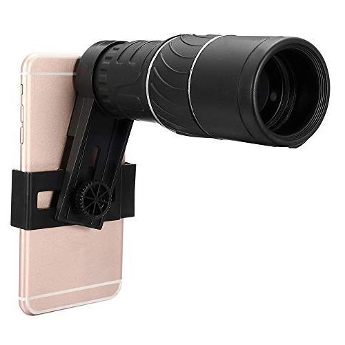 New! 16x52 Zoom Monocular Telescope Lens HD +Phone Holder