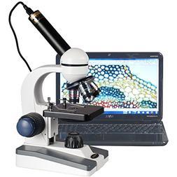 AmScope M150C-E Digital Compound Monocular Microscope, WF10x