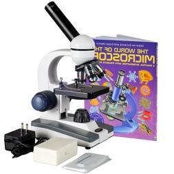 AmScope M150C-PB10-WM Compound Monocular Microscope, WF10x a