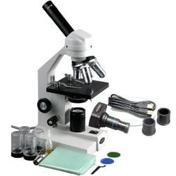AmScope M500C-MS-M Digital Monocular Compound Microscope, WF