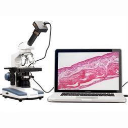 AmScope M620B-P Digital Compound Monocular Microscope, WF10x