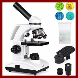Microscope 40X 1000X Dual Cordless LED Illumination Lab Comp