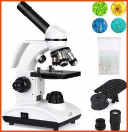 microscope 40x 1000x dual cordless led illumination
