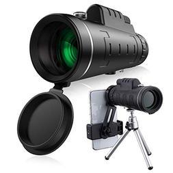 40x60 HD Mini Monocular Telescope With Tripod Cell Phone Hol