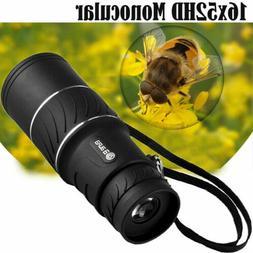 Monocular 16x52 Optics Zoom Lens Camping Hiking Hunting Tele