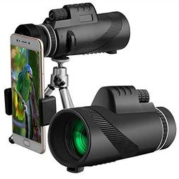 ETbotu 40X60 HD Monocular Day&Night Vision Dual Focus Telesc