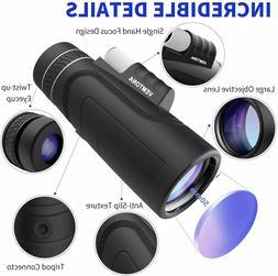 Monocular HD Telescopes 12X24 Waterproof Retractable Camping