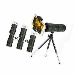 OUTERDO Monocular Telescope 10-100x30 Dual Focus Camping Hun