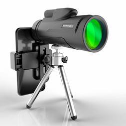 Monocular Telescope 12X50 High Power BAK-4 Prism with Tripod