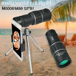Monocular Telescope 16x52 HD High Power Prism Waterproof W/